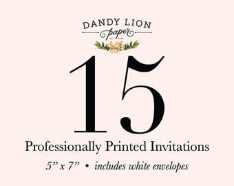15 Professionally Printed Invitations (Free Shipping)