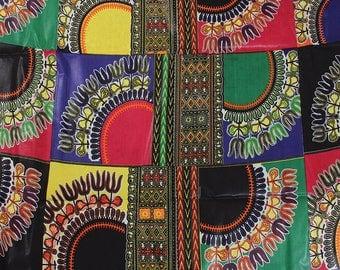 6 Wholesale Yards Dashiki print Patchwork fabric / Dashiki print Dresses/ Patchwork Dashiki clothing/Dashiki Patchwork Skirt