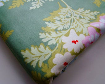 Heather Bailey Nicey Jane Picnic Bouquet Moss Green HB-18 Fabric OOP Half Yard Very Hard to Find Rare