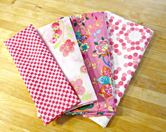 Fabric Destash, Fabric Bundle, Pink Fabric, Pink Quilting Fabric, Fabric Remnants, Cotton Quilting Fabric, Fabric Scraps, Butterfly Fabric