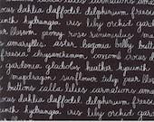 Olive's Flower Market - Floraculture in Blackboard by Lella Boutique for Moda Fabrics