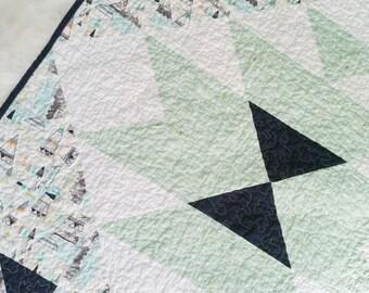 SALE // Teepee quilt, baby blanket, woodland nursery