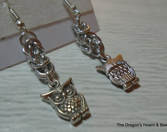 Byzantine Owl Earrings