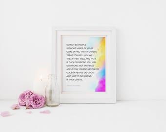 Inspirational Quote, Inspirational Wall Art, Art Prints Quotes, Inspirational gifts, Art Print Watercolor, 8x10 PRINT ONLY, Islamic Wall Art