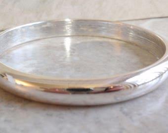 Bangle Bracelet 800 Silver Hollow Vintage V0114