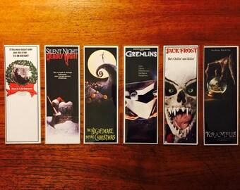 Handmade Bookmarks Christmas Horror Film Series