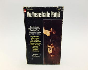 Vintage Horror Book The Unspeakable People 1969 Paperback Anthology