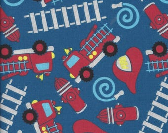 Kids Time Fire Engines by Choice Fabrics