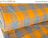 ON SALE Gold Mammoth Flannel Fabric, Plaid Flannel, Mustard Plaid, Apparel fabric, Fabric by Yards, Robert Kaufman Fabrics, 15606-133
