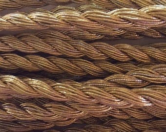Antique French Metal Gold Cording Trim