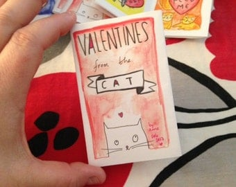 Valentines from the Cat color mini comics
