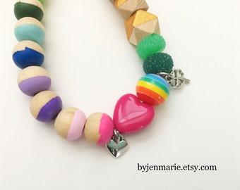 Lucky charm rainbow bracelet