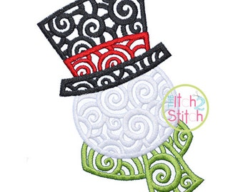 Scroll Snowman Embroidery Design For Machine Embroidery, INSTANT DOWNLOAD now available