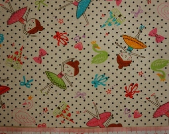 Sweet sweet ballet  - 1 yard -3 colors - cotton linen - ballet -  Use coupon code: 5YEAR can get 20% off