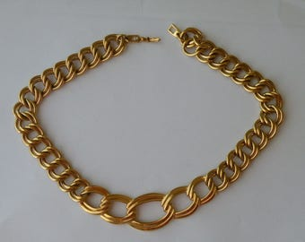 "Napier Gold plated double links chain necklace. 18"" long."