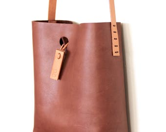 mini.malist x-body leather tote bag 'carob'