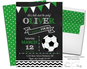 Printable Soccer Invitation - Soccer Party Invitations - Soccer Birthday Invitations - Soccer Invitation - Soccer Invite - Boys Birthday