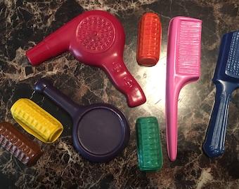 Hair stylist coloring crayon set