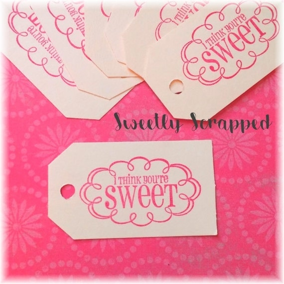 LIFE IS SWEET Tags ... Cream, Valentine Tags, Treat Tags, Goody, Goodie, Favor, Labels, Pink, Red, Scrapbooking, Supplies, Cardmaking