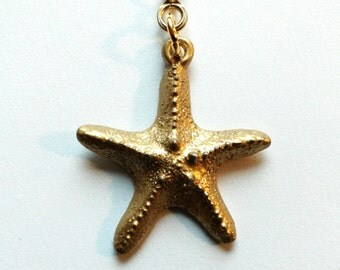 Brass Finish Pewter Starfish Ceiling Fan Pull Chain