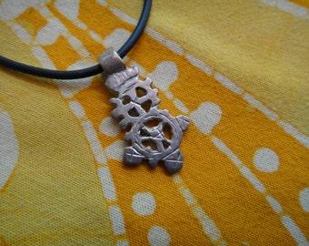 Petite Ethiopian Coptic Cross Pendant Necklace