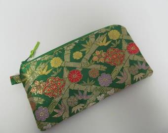 """Zipper Pouch/4.5""""x8""""/Japanese Kimono Style"""