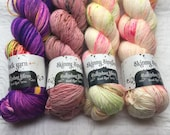 YARN DESTASH: Hedgehog Fibres Sock Yarn & Skinny Singles