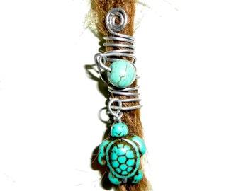 turquoise turtle tortoise dread bead gemstone