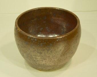 Succulent Planter, Iron Flux Shino Glaze, Handmade, Ceramic Pottery Wheel, Indoor Pot, Home Decor, MJS, 212