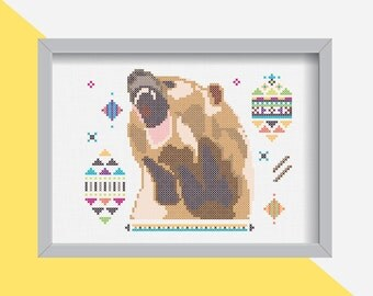 DIY BEAR/ embroidery Cross Stitch .pdf / Instant Download