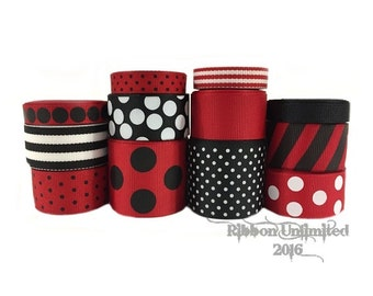 24 Yds LADYBUG  wholesale grosgrain ribbon collection   Low Shipping Cost