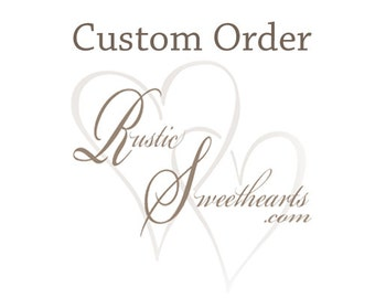Custom order for Linda ~ 10 ivory and 10 blush pink stemmed flowers, ship with previous order.