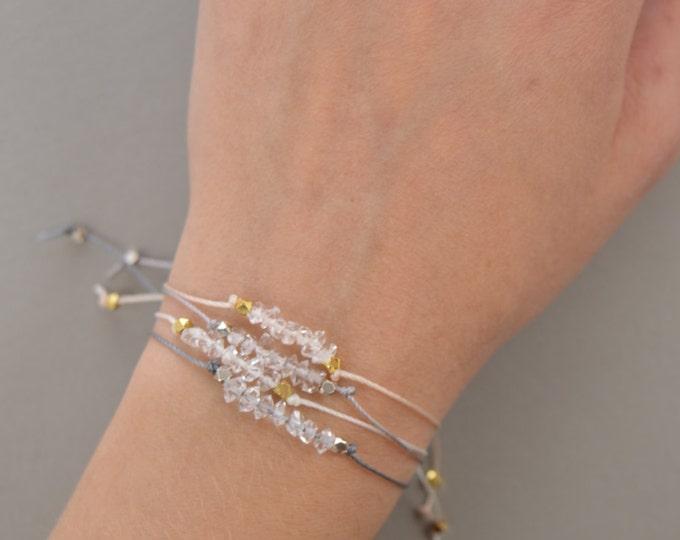 Herkimer Diamond Stacking Bracelet