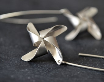 Pinwheel Earrings, Pinwheel Charm Jewelry