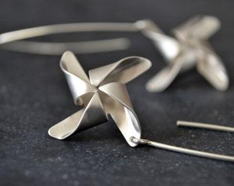 Pinwheel Earrings, Pinwheel Charm Jewelry
