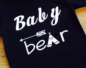 Boys Clothing, Baby Brother Shirt, Baby Bear