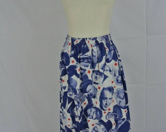 1970s Old Hollywood Midi Skirt