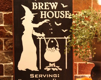 The Olde Black Cauldron Brew House Wall Sign