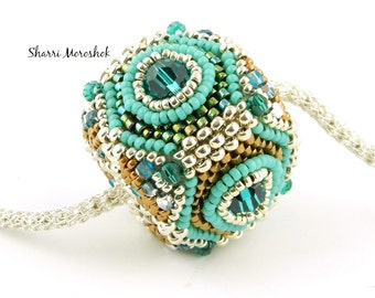 Sale - Reduced 25% - Jewel Box beaded bead by Sharri Moroshok