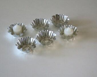 Vintage MIni Baking Tins, Bundt, Cake Mold, Jelly Mold