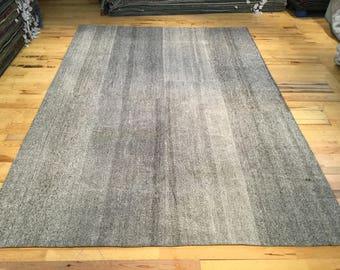 Large Minimal Flatweave Turkish Kilim 12.07' x 8.33'