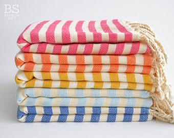 NEW / SALE 50 OFF/ BathStyle / Striped Turkish Beach Bath Towel Peshtemal