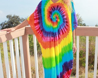 Tie Dye Caftan Plus size