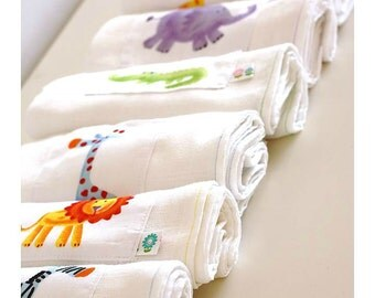 Burp Cloth, Cotton Gauze Muslin Square, Newborn Swaddle Wrap
