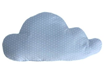 Cloud Pillow, Soft Pillow, Decorative Cloud Pillow, Nursery Decoration, Light Blue Pillow