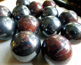 Hematite Sphere - 1 inch, grounding crystal, balancing, protection, healing crystal