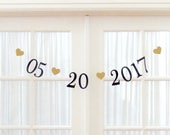 NEW.  Date Banner.  Priority Shipping. Wedding Decorations.  Bridal Shower.  Photo Prop. 5280 Bliss.  Save the date banner.