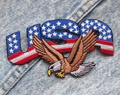 70s Vintage USA Eagle Deadstock patches | iron on