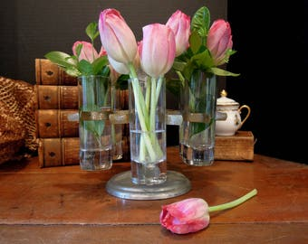 Vintage Stamp Holder / Achilles Carousel Stand / Flower Vase / Studio Organization / Shot Glass Holder / Urban Industrial