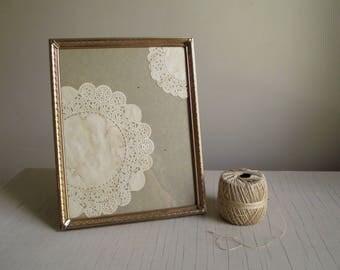 Vintage Metal Frame , Ornate Gold Tone 8 x 10 Frame , Hollywood Regency Romantic Decor , Vintage Bridal Wedding Decor